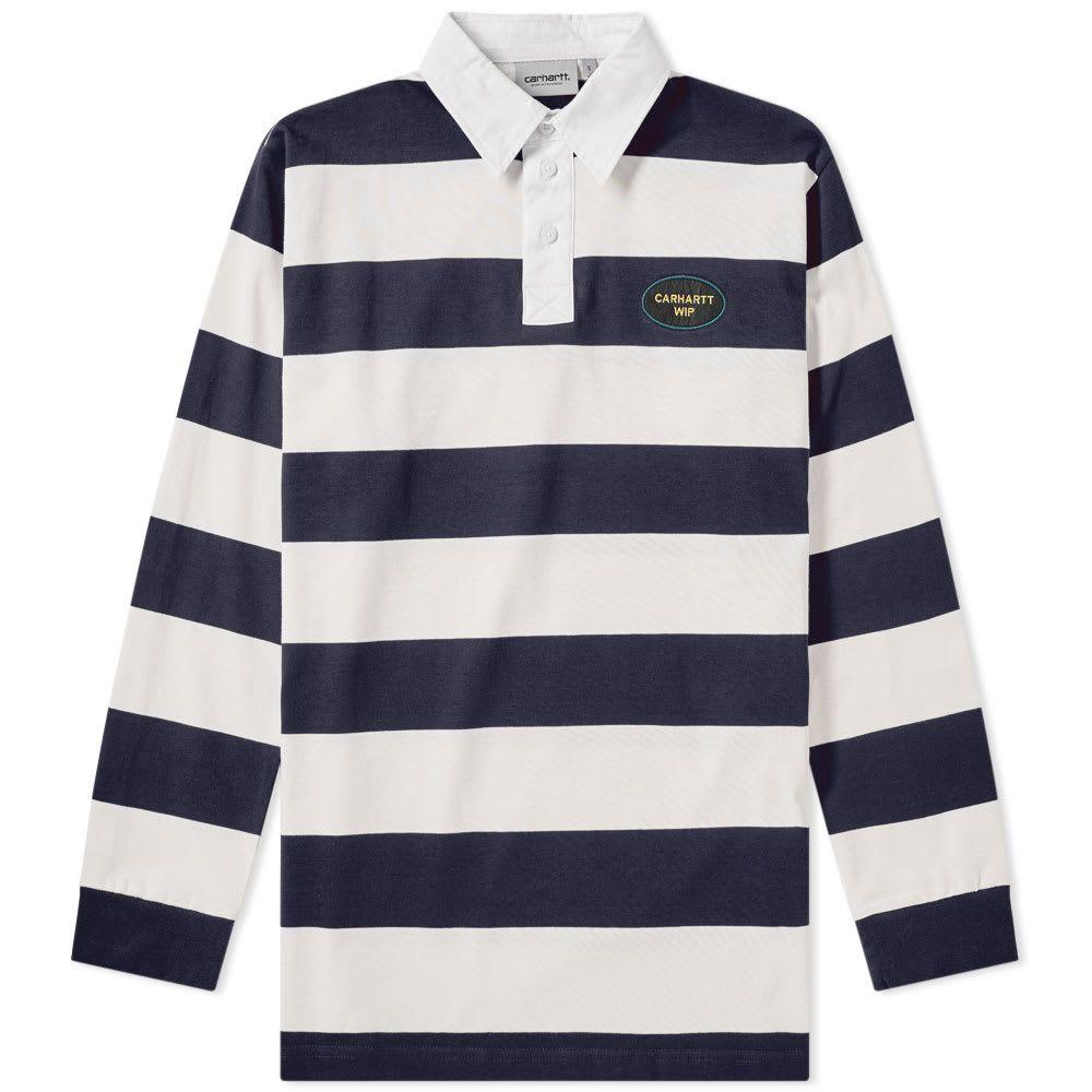 Carhartt Wip Roslyn Rugby Shirt In Blue Shirts Rugby Shirt Carhartt