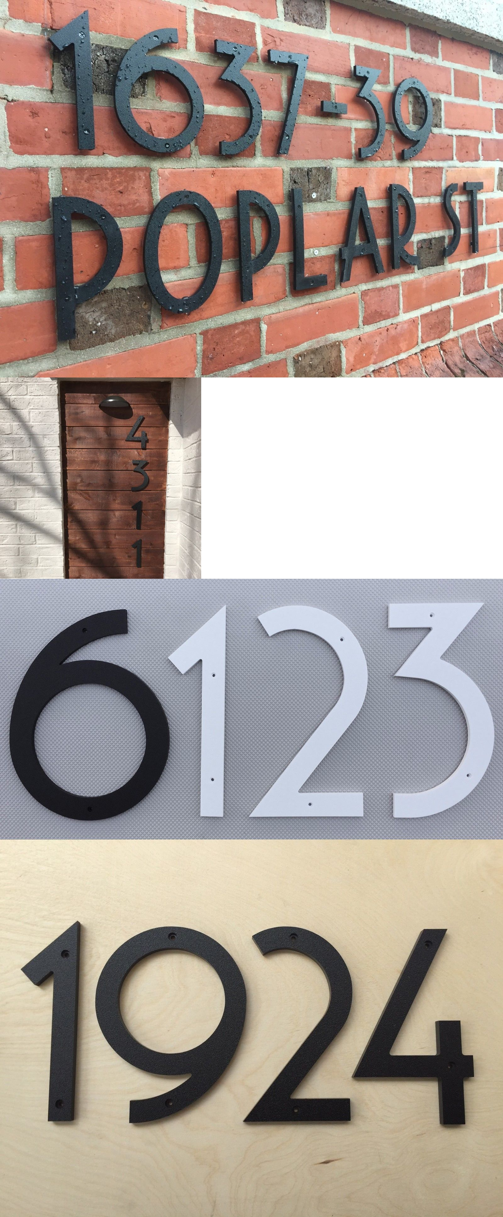 12 Inch Art Deco House Numbers Color Choices Ebay Art Deco Home Art Deco Interior Decor Art