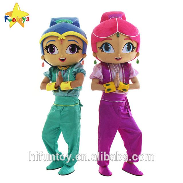 funtoys ce shimmer and shine mascot costume for halloween party