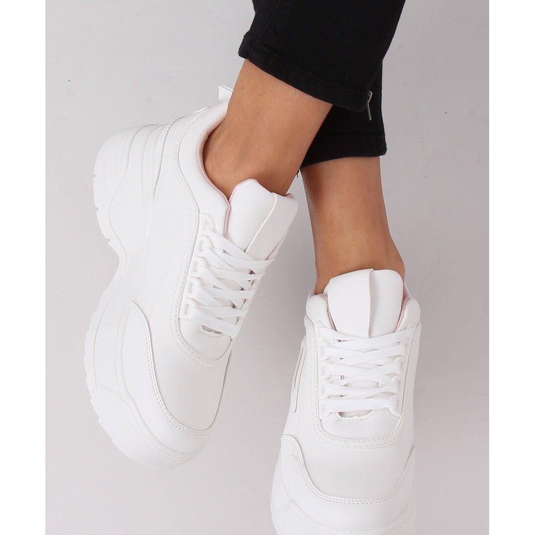 Buty Sportowe Wysoka Podeszwa Biale La78p 1 Pink Wedge Sneaker Shoes Sneakers