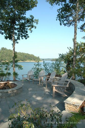 traditional home lake houses design