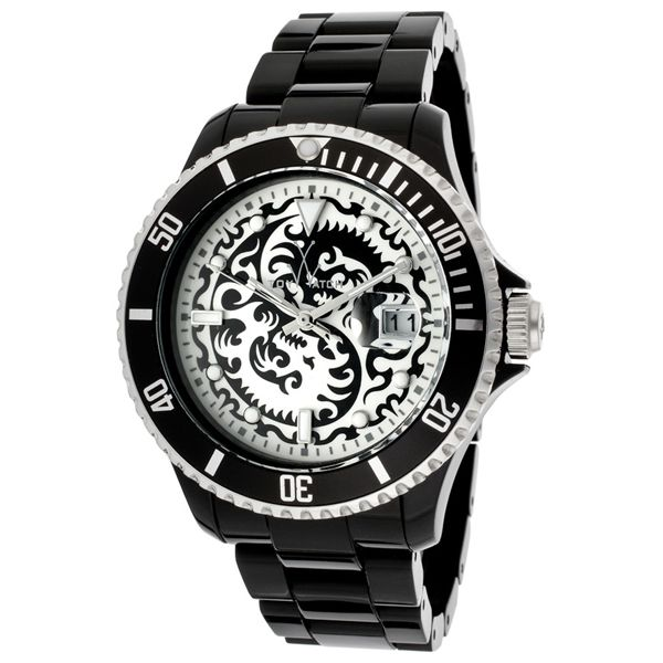 Women's White Dial Black Resin - ToyWatch Watch