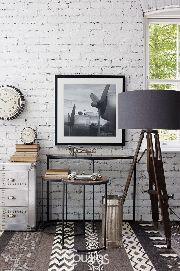 Bingham tripod lamp with dark wooden base and charcoal ...