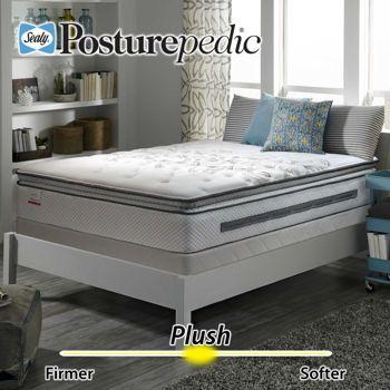 Sealy Posturepedic Barnhart Plush Euro Pillowtop Queen Mattress