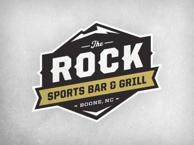 The Rock Sports Bar & Grill Logo Logotipos, Logotypes
