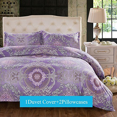 Purple Bedding Ideas Duvet Cover Sets King Size 3 Pieces Purple Floral Lavender Boho Bohemia Exot Duvet Cover Sets Queen Size Duvet Covers Bed Duvet Covers
