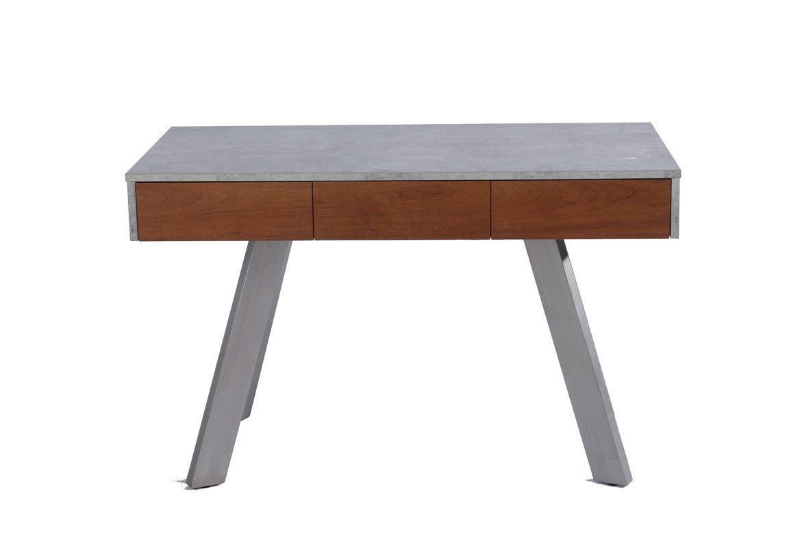 Modrest austin contemporary concrete u walnut desk products