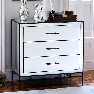 west elmu0027s modern bedroom dressers and armoires provide stylish for any bedroom shop our chest of drawers and update your space - Mirrored Dresser Cheap