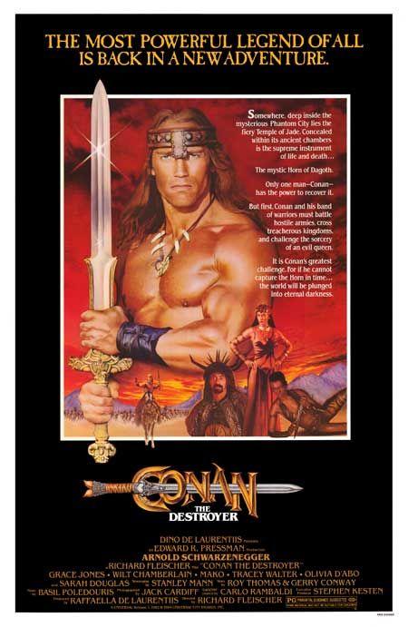Conan The Destroyer Conan Barbaro Posteres De Filmes E Filmes