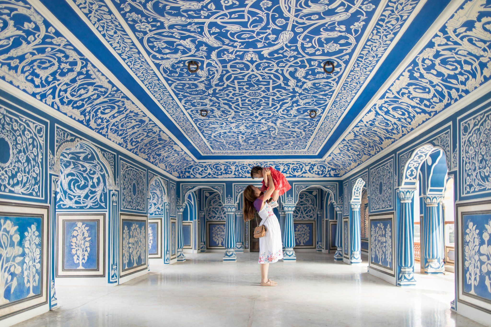 Sukh Niwas Blue Room City Palace Jaipur India 2048 X 1365 City Palace Jaipur Blue Rooms Jaipur
