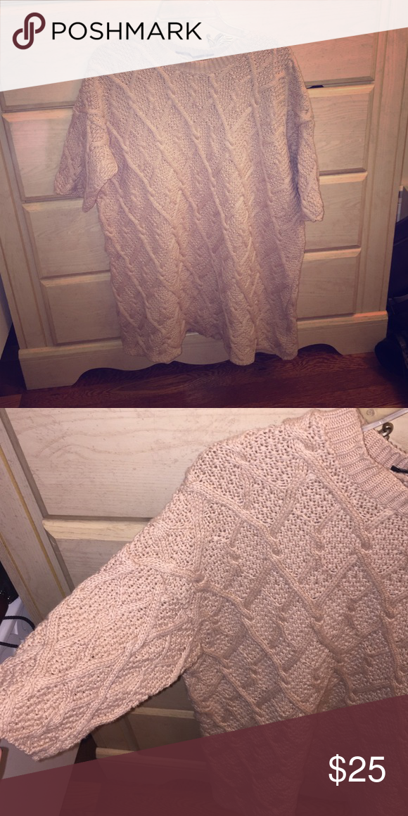 Beige sweater dress Can also be worn with tights. Zara Dresses