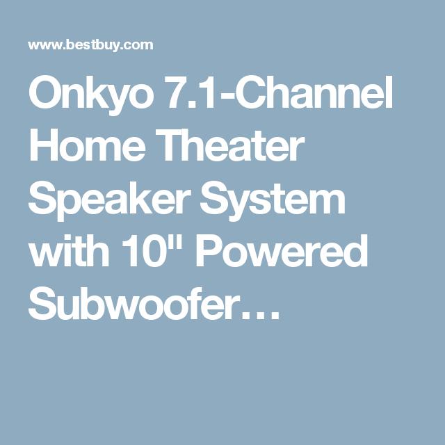 Onkyo channel home theater speaker system with powered subwoofer sksht also rh za pinterest