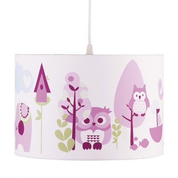 Lampadario per la cameretta in colore rosa decorato con - Ikea lampadario bambini ...