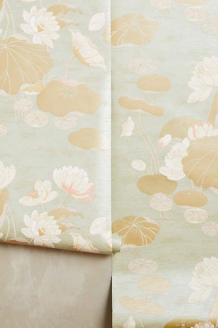 Lily Pad Wallpaper - anthropologie.com