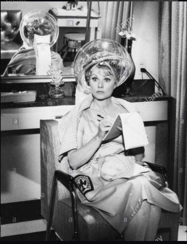 Vintage Hair Salons Roller Set Retro Beauty Shop Dryer Style Surprise Postcards