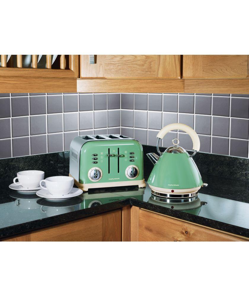 Buy Morphy Richards 4 Slice Toaster Green at Argos