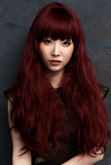 Red Hair Will Also Look Pretty With Tanned Skin Especially If Said Person Wants A Pop Of Color Descriptio Hair Color Asian Dark Red Hair Color Red Hair Color