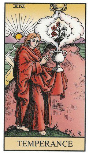 The Temperance Tarot Card in Love | Tarot XIV Temperance in