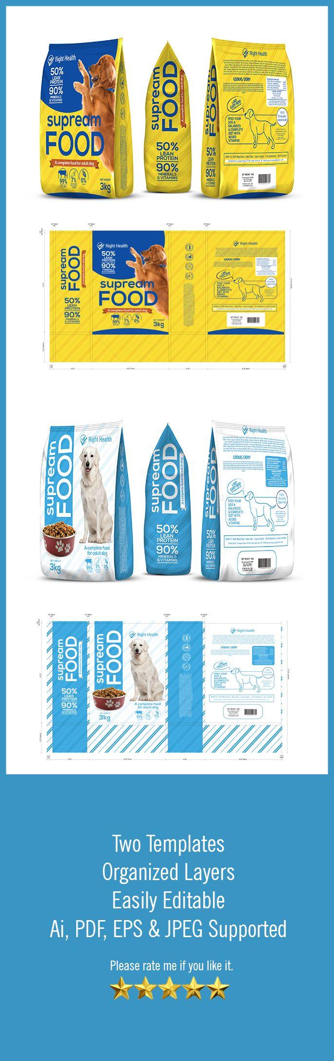 Download Dog Food Packaging Template Vol 41 Packaging Seller Packaging Template Packaging Template Design Pet Food Packaging