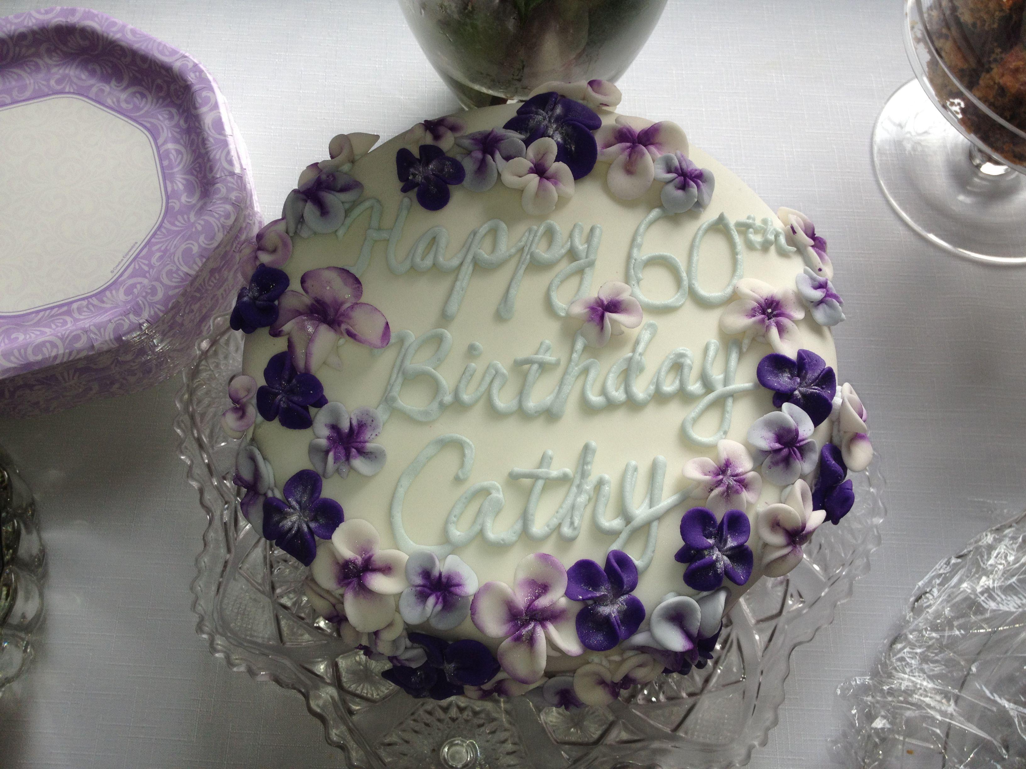 Violet Flowers Birthday Cake Cakes Ive Made Pinterest