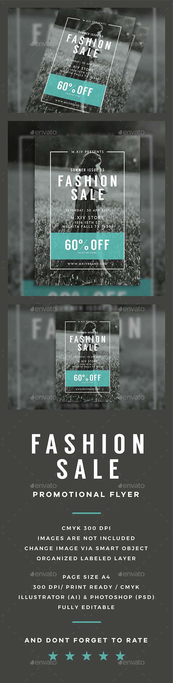 Fashion Sale Flyer Pinterest Sale Flyer Ai Illustrator And - Sales flyer template photoshop