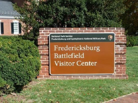 Entrance Sign Fredericksburg Battlefield