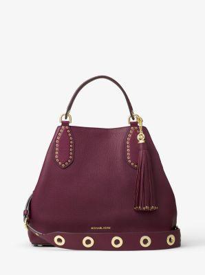 ff3d0b9fe7 Brooklyn Large Leather Shoulder Bag $498. Brooklyn Large Leather Shoulder Bag  Handbags Michael Kors ...