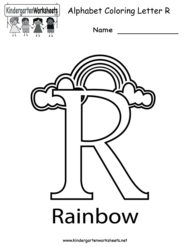 letter r coloring pages preschool - photo#11