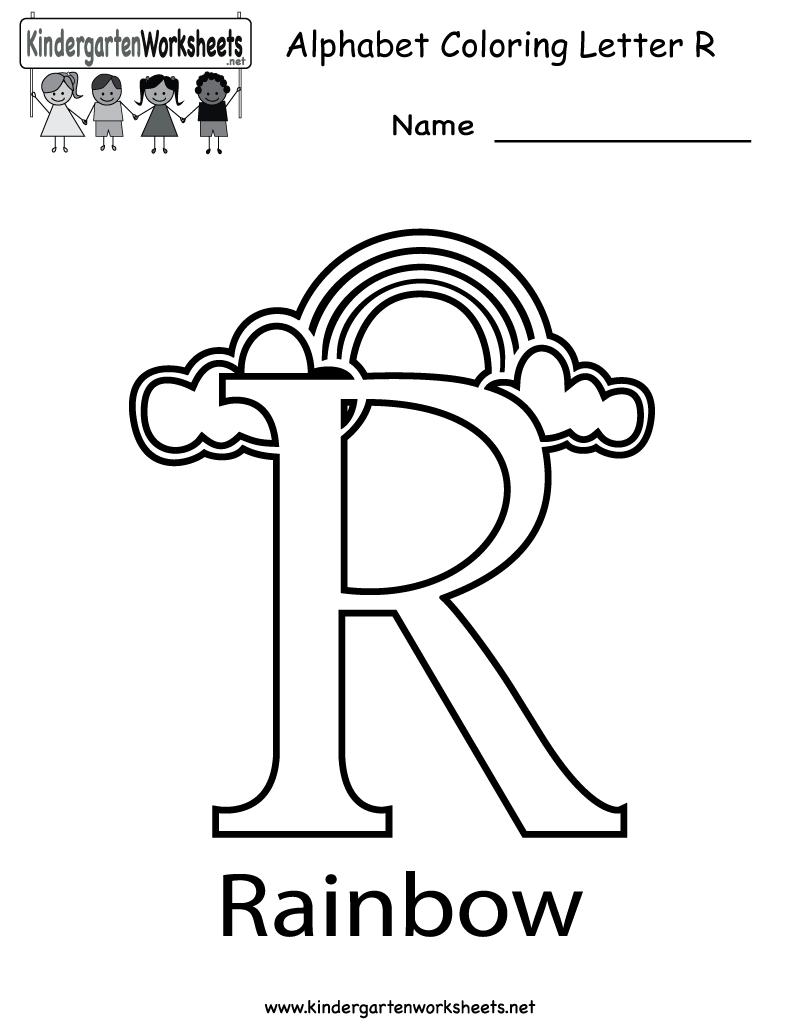 Kindergarten Letter R Coloring