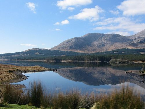 A lake in the wilds of Connemara in Ireland.