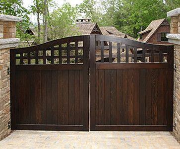 Portland Collection Wood Driveway Gate Traditional Fencing House