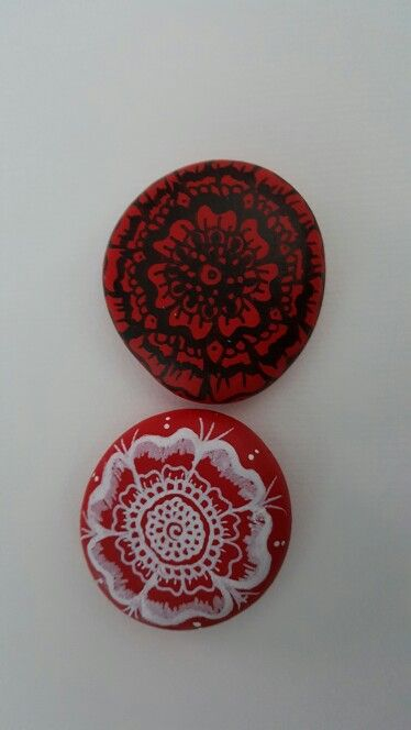 Mandala  rocks i hand painted