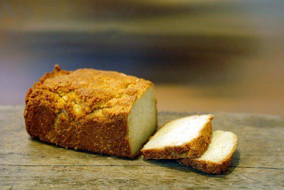 Simple bread w/ almond flour - works fine with hazelnut flour, too!