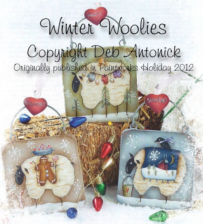 Winter Woolies by Deb Antonick by PaintingWithFriends on Etsy