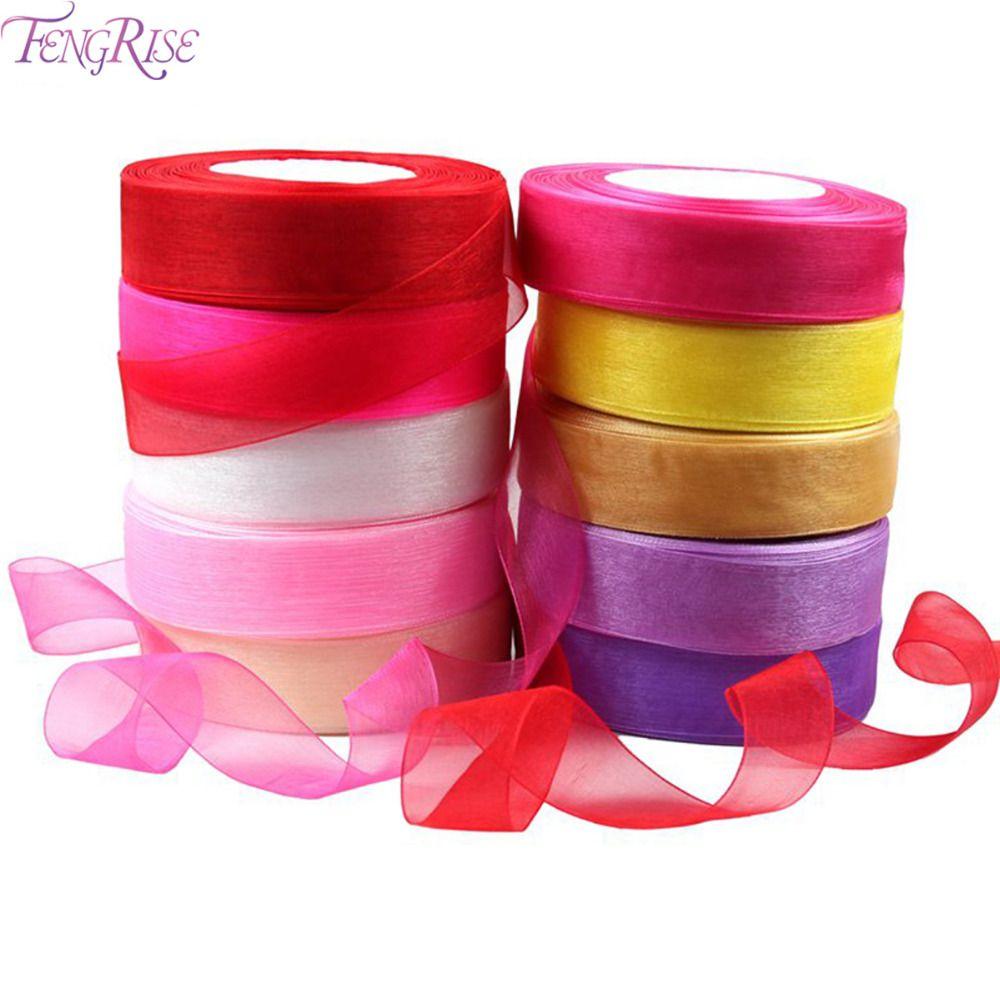 Organza Ribbon 25mm 45 Meter DIY Gift Packaging Craft Decorative Tapes Apparel Sewing Fabric Bow Ribbon Wedding Party Decoration