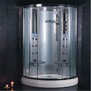 Ariel Bath Dz931f3 Platinum Steam Shower Sauna 47 7 X 47 Bow Front 2 Person Steam Showers Steam Shower Enclosure Shower Enclosure Kit