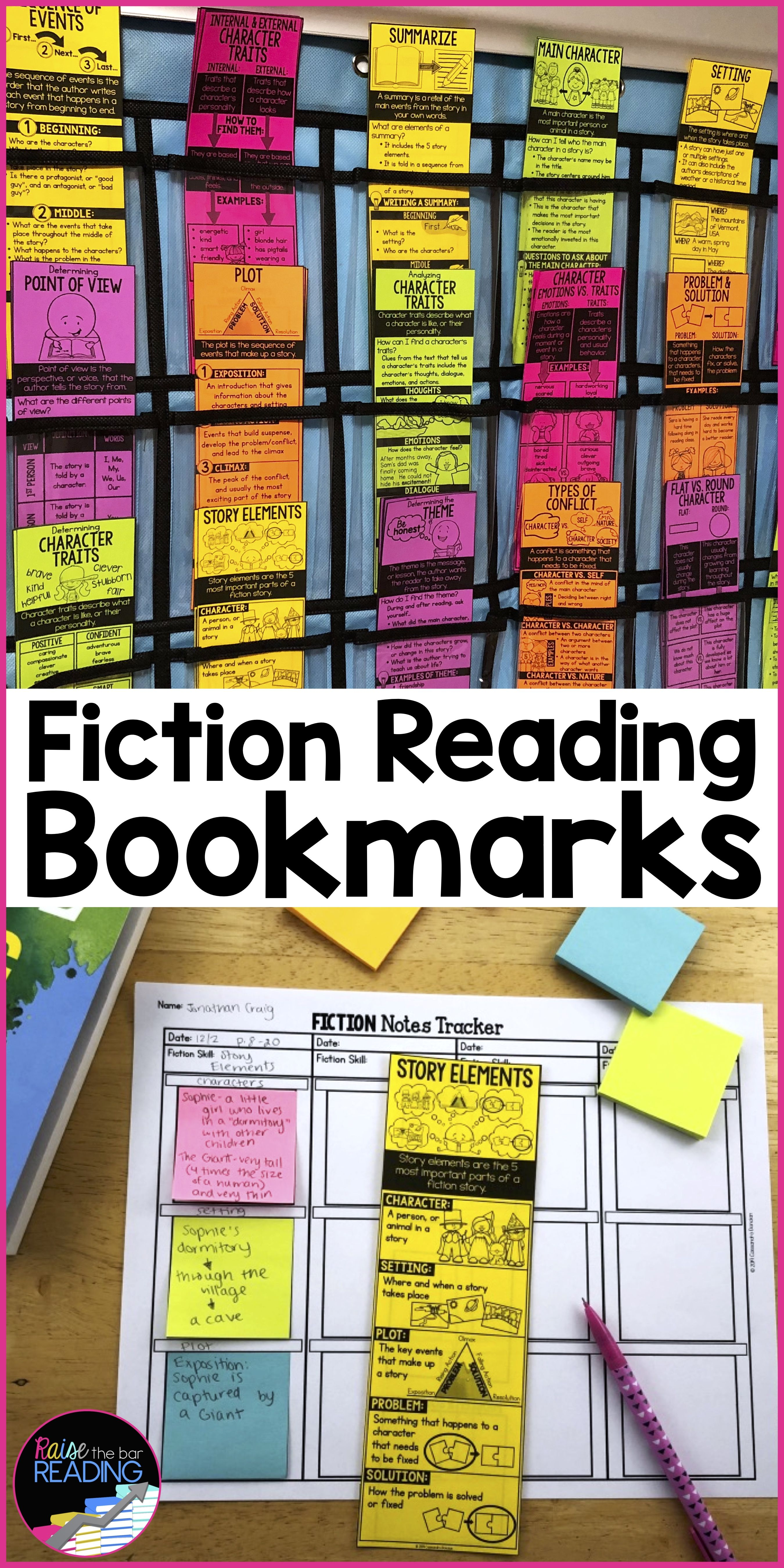 Fiction Reading Bookmarks For Fiction Reading Response