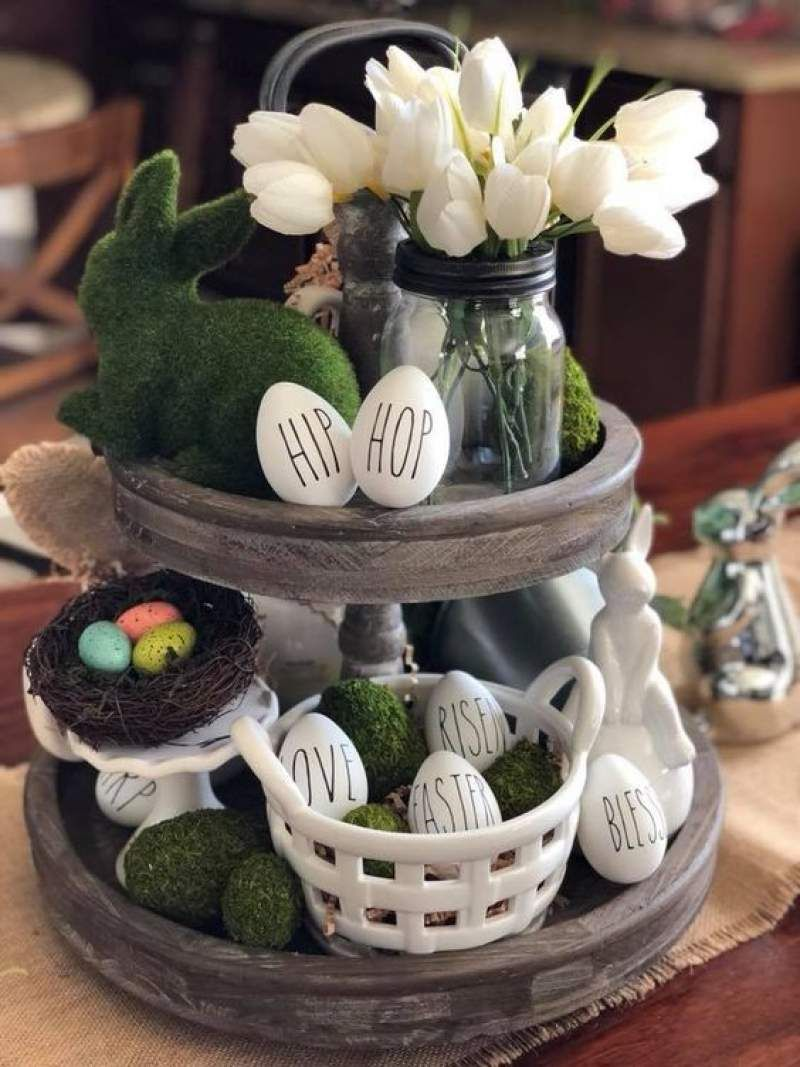 60 Spring Easter Decorating Ideas For Home Coz Spring Has Sprung We Can T Contain The Excitement Hike N Dip Easter Centerpieces Easter Table Decorations Spring Easter Decor