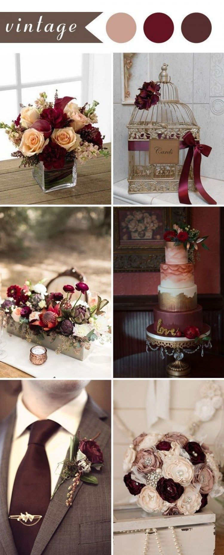 31 Stunning Maroon And Silver Wedding Decorations