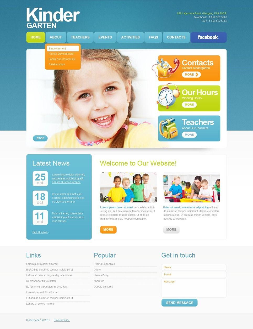 kids center psd template design saves pinterest templates psd