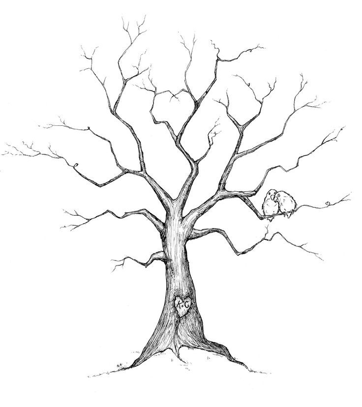 wedding tree guest book template