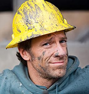 """Mike Rowe. I don't have to see the rest of him to think, """"Phew, he is hot!"""""""