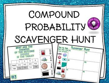 Compound Probability Activity Scavenger Hunt Probability Activities Probability Lessons Probability Activities Middle School