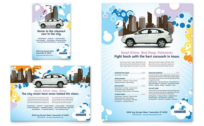 Car Wash Flyer and Ad Design Template by StockLayouts DIY - car flyer template