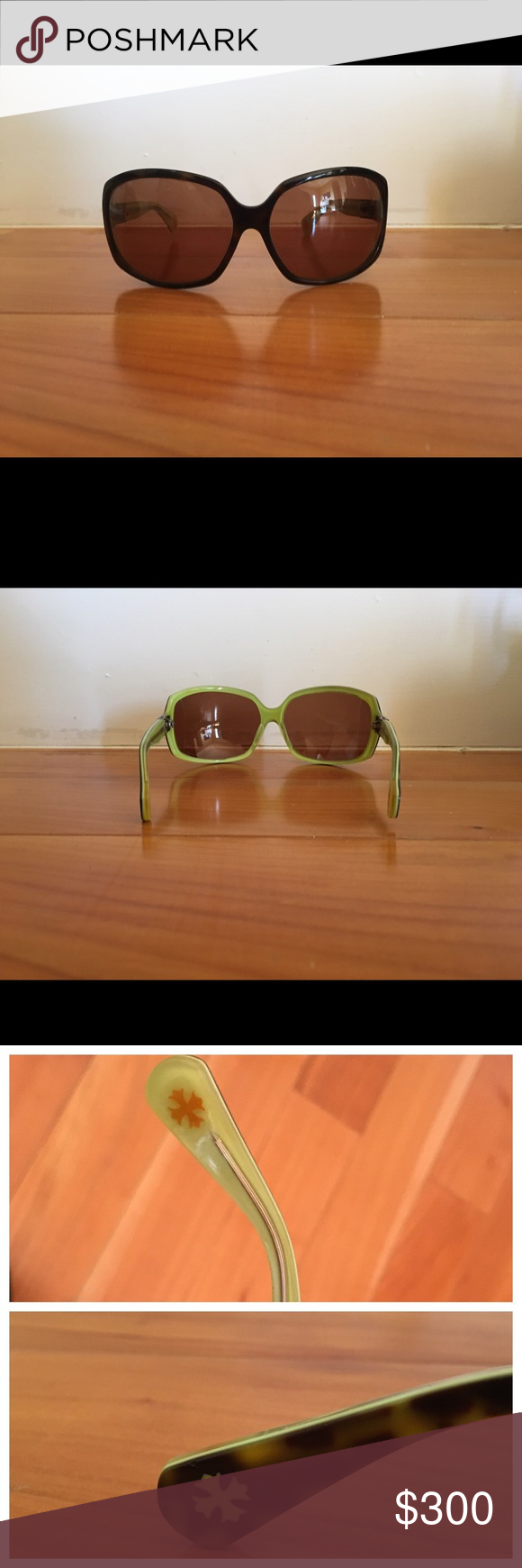 Chrome Heart Sunglasses Chrome Heart Sunglasses. Turtle shell with green lining and case. Chrome Hearts Accessories Sunglasses