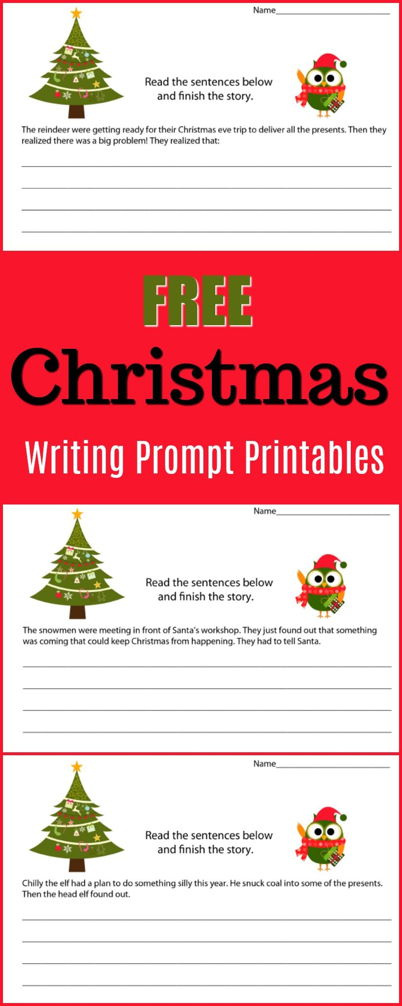 Holiday Writing Prompt Printable Pack - 80 Pages Of Free
