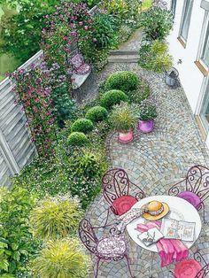 Schöner Garten Vorher Nachher romantischer gartenhof romantisch schöne gärten und sitzecke