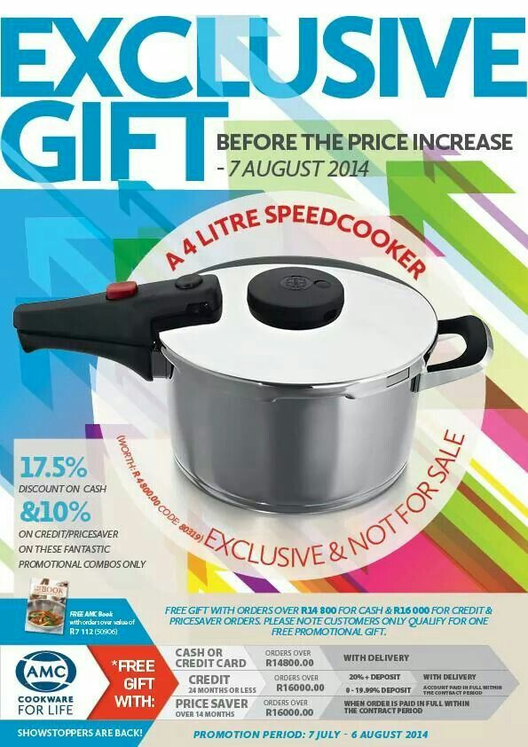 Amc 4 L speed cooker | AMC Cookware | Kitchen appliances, Cooker
