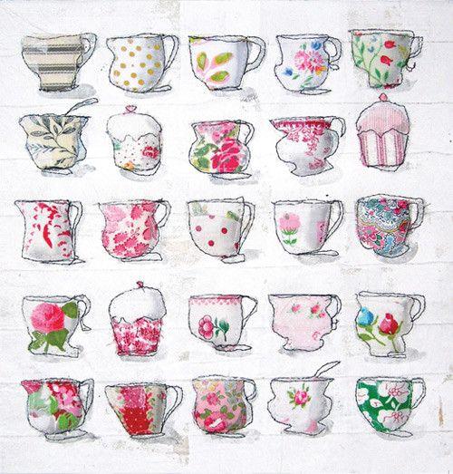 Jayne ward wonderful organic shapes and use of fabric stitch by greeting card m4hsunfo