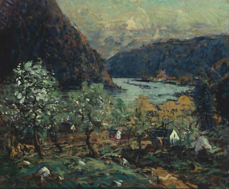 """""""Hudson River at Kingston,"""" Arthur Clifton Goodwin, oil on canvas, 30 1/4 x 35"""", private collection."""